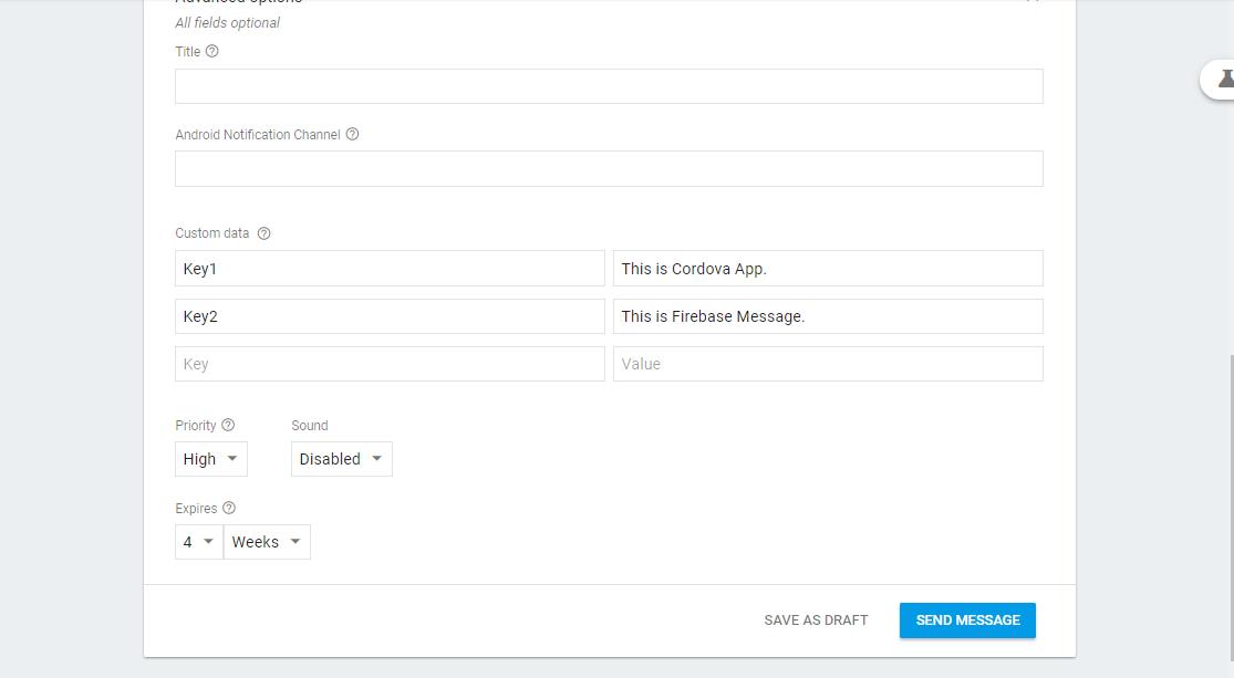 Push Notification using Cordova and Firebase Cloud Messaging