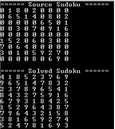 Sudoku Solver in CSharp